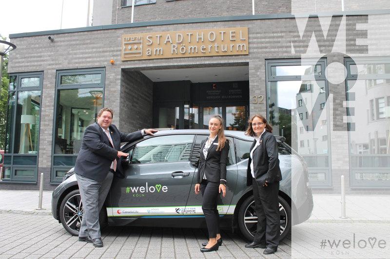 Vorstellung unseres Partners Stadthotel am Römerturm mit BMW i3